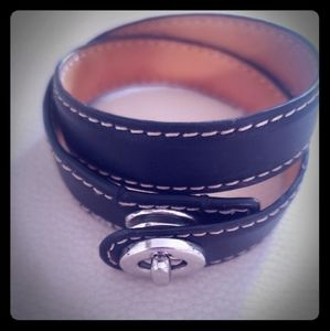 Coach leather wrap bracelet